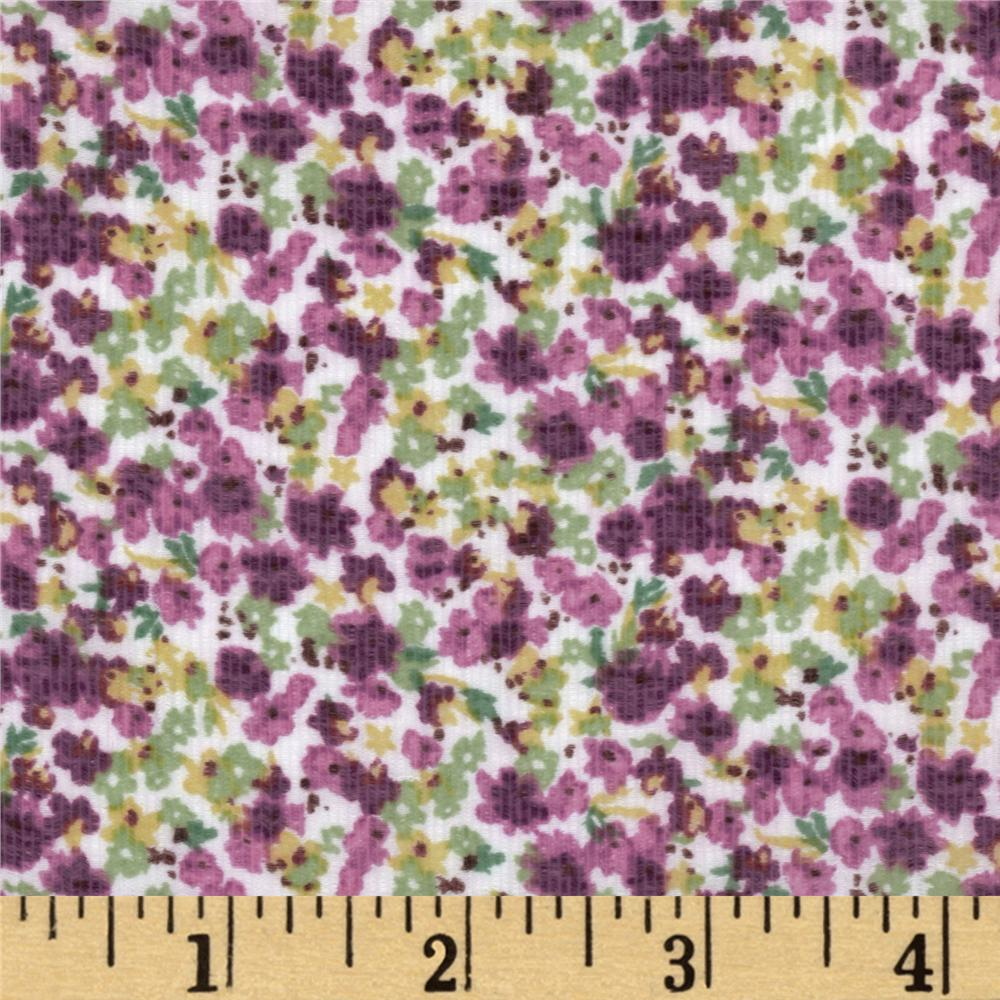 Jonquil Shirting Ditzy Floral Purple/Green
