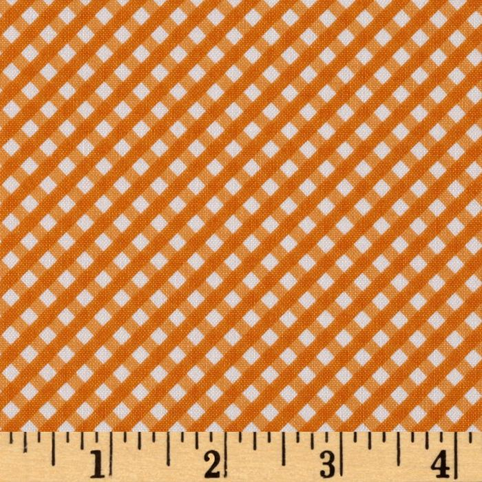 Riley Blake Happy Ever After Gingham Orange