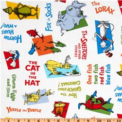 Celebrate Seuss Allover Titles White