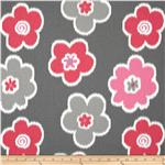 UQ-064 Premier Prints Ikat Petals Flamingo