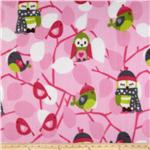 0262567 Fleece Owls Pink