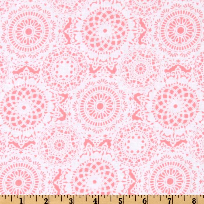 Michael Miller It's A Girl Thing Doily Dance Pink