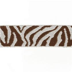 7/8'' Ribbon Zebra Brown/Silver