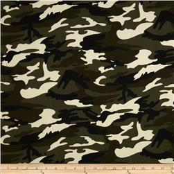 Textile Creations Camouflage Twill Tan/Brown/Green
