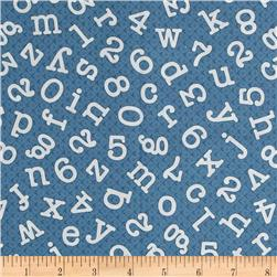 Homeschool Alphabet Numbers Blue