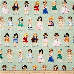 Paper Doll Cuties Girls & Boys Green