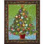 0285238 Christmas Tree Panel Forest