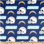 CK-197 NFL Cotton Broadcloth San Diego Chargers Blue/White/Yellow