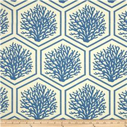 Bella Dura Eco-Friendly Indoor/Outdoor Seascape Jacquard Blue