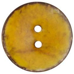 Genuine Coconut Button 1 5/8'' Arles Yellow