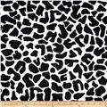 Printed Cotton Jersey Knit Cow Skin Black/White