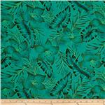0303937 Hoffman Tropical Collection Hibiscus Tone on Tone Jade