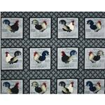 0274386 Morning Call Rooster Panel Grey
