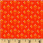 205174 Little Kukla Flowers Retro Orange