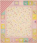 FM-837 Double-Sided Quilted 36&quot; Baby Panel Pink