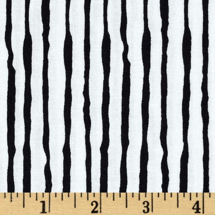 Doggie Holiday Stripes Black/White