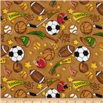0266757 Flannel Tossed Sports Brown/Multi