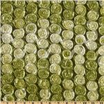 Honeycomb Satin Ribbon Rosette Taffeta Olive