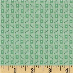 Timeless Treasures Dolly Dear Rectangles & Dots Green