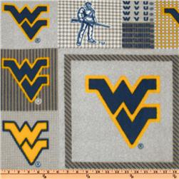 Collegiate Fleece West Virginia University Plaid Allover