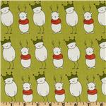 Santa Claus is Coming to Town Stick Snowmen Olive