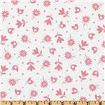 229615 Bonny Bloom Flannel Small Flower White/Pink