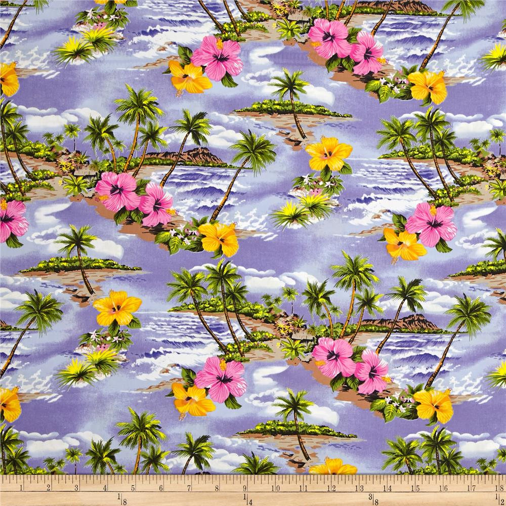 Hoffman Tropical Collection Small Floral Purple