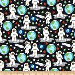 Outer Space Glow In The Dark Astronauts Black