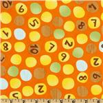 FF-939 Moda Ten Little Things Number Dots Orange
