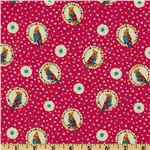 Echino Cotton/Linen Blend Canvas Parrot Red