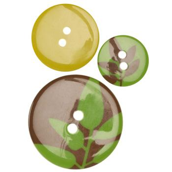 Fashion Buttons 3/4'', 1.00'', 1 3/8'' Coordinates Silhouette Green