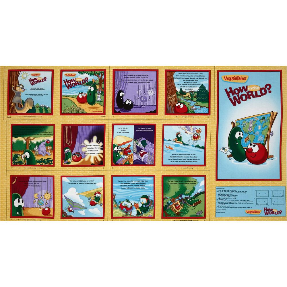 Veggie Tales How In The World Panel Blue/Yellow