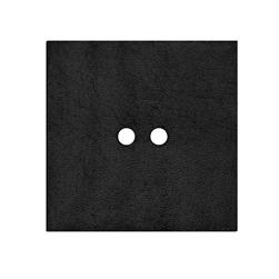 2'' Leather Button Square  Black