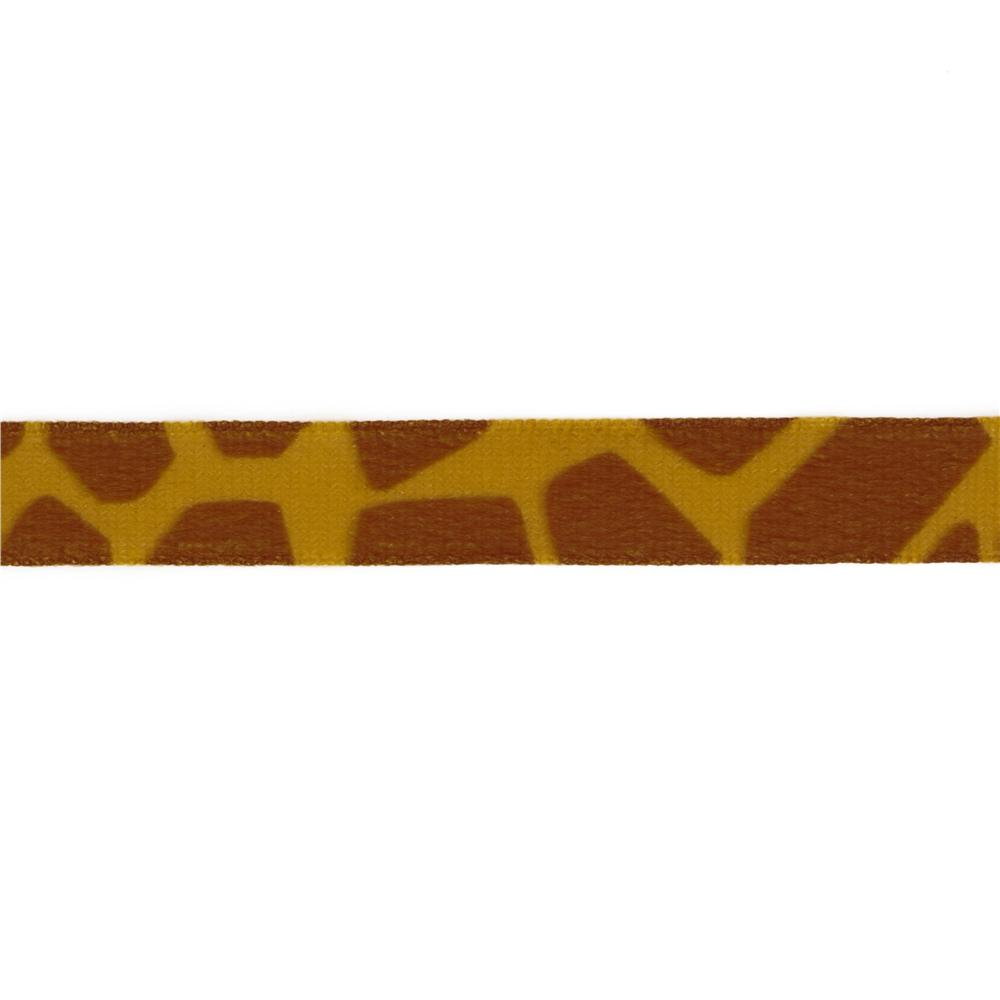5/8&#39;&#39; Panne Velvet Ribbon Giraffe