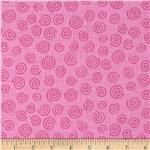 "236161 110"" Wide Quilt Backing Swirl Pink"