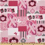 212102 Ribbons of Hope Patchwork Pink