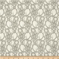Xanna Floral Lace Fabric Light Grey