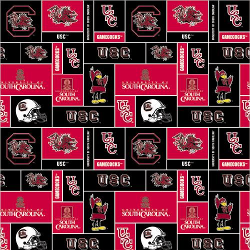 Collegiate Fleece University of South Carolina Blocks