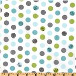 EZ-904 Michael Miller Backyard Baby Lotsa Dots White