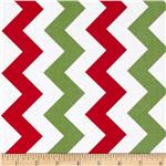 0296447 Riley Blake Medium Chevron Christmas