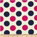 In the Navy Jumbo Dot Pink/Navy