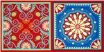 Michael Miller Gypsy Bandana Jewel Bandana Square Panel Red