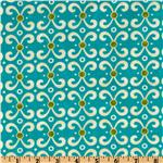 Moda Sassy Scrolls Aqua