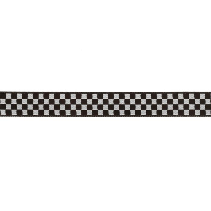 5/8&#39;&#39; Ribbon Checkerboard Black/White
