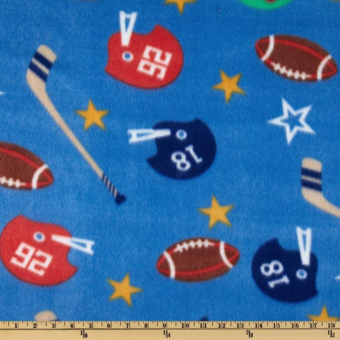 Novelty Fleece Hockey/Football Blue