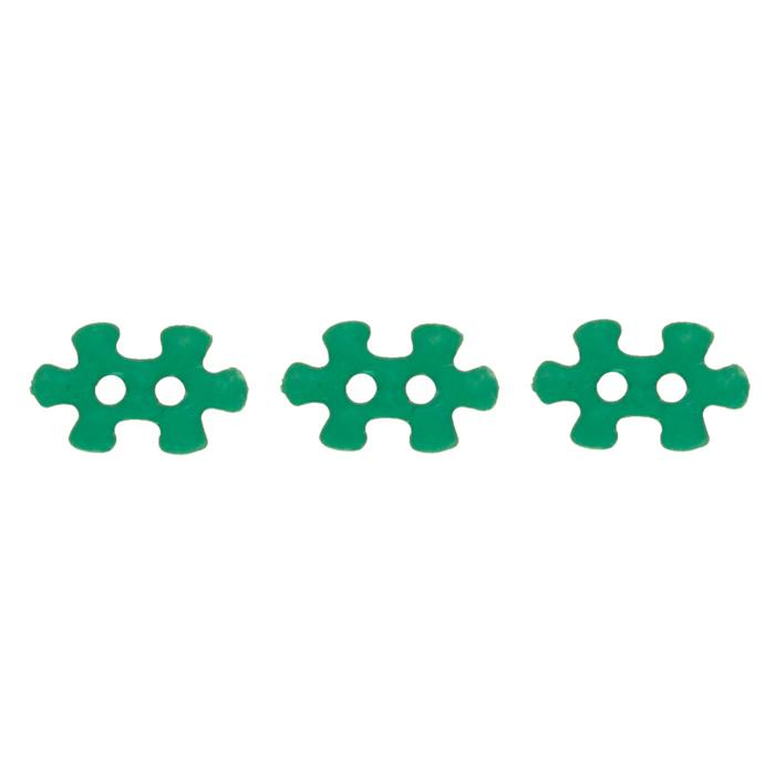 Novelty Button 5/8'' Puzzled Green