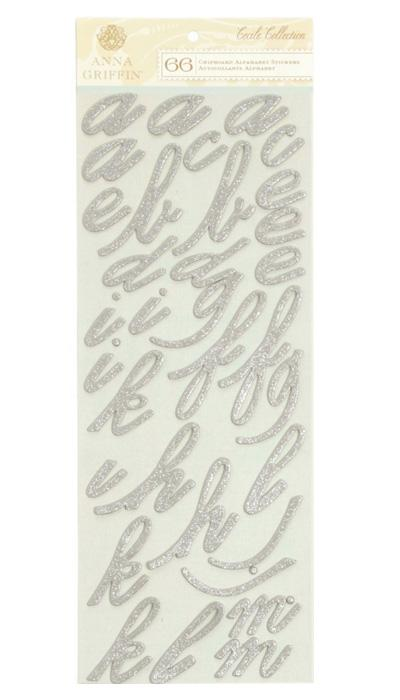 Anna Griffin Cecile Chipboard Alphabet Stickers