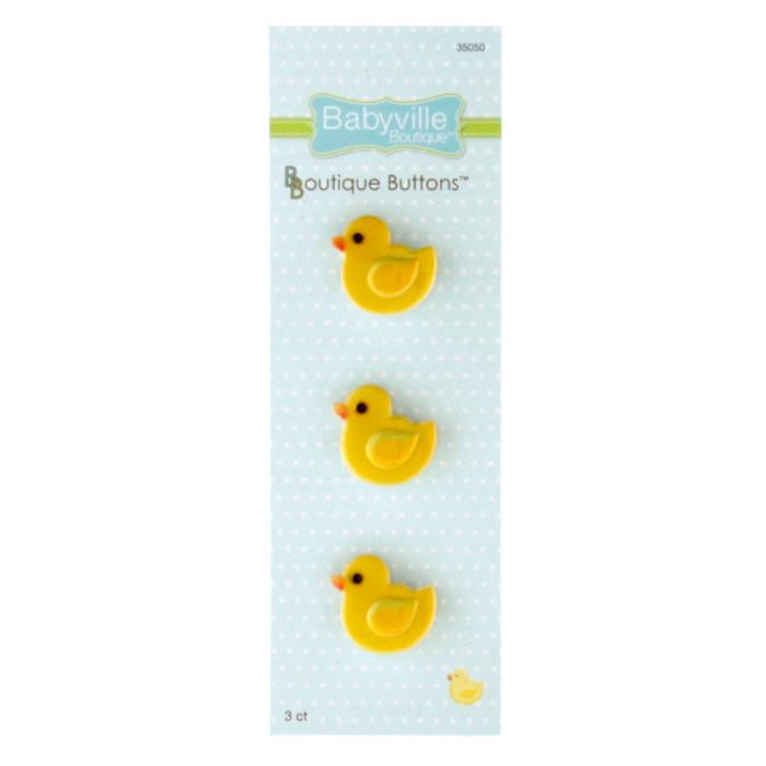Babyville Boutique Buttons Duck