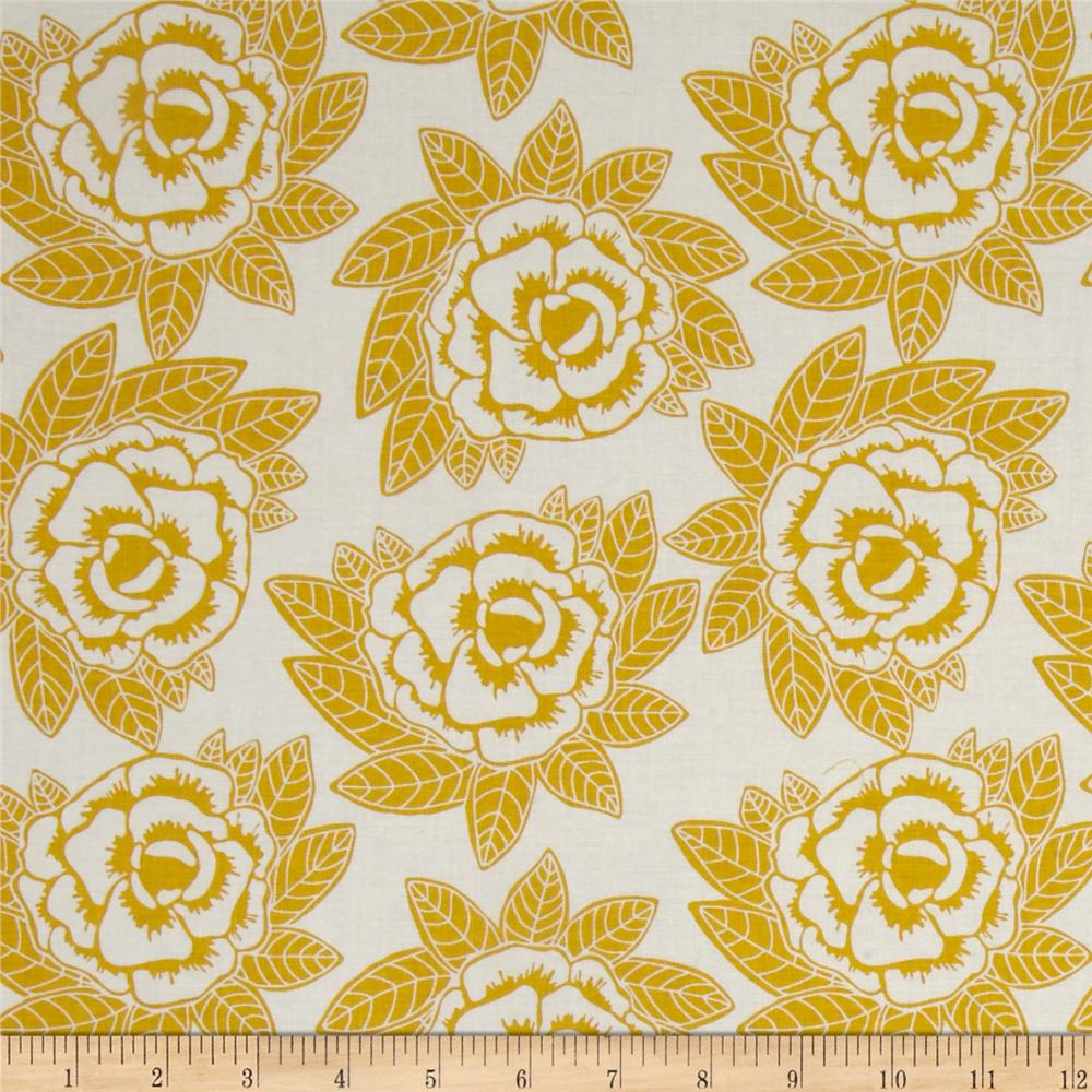 Riley Blake Indie Chic Large Floral Yellow