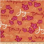 0277972 Happiness Sweet Words Orange/Fuchsia